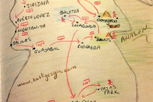Ekvador Yol Haritası
