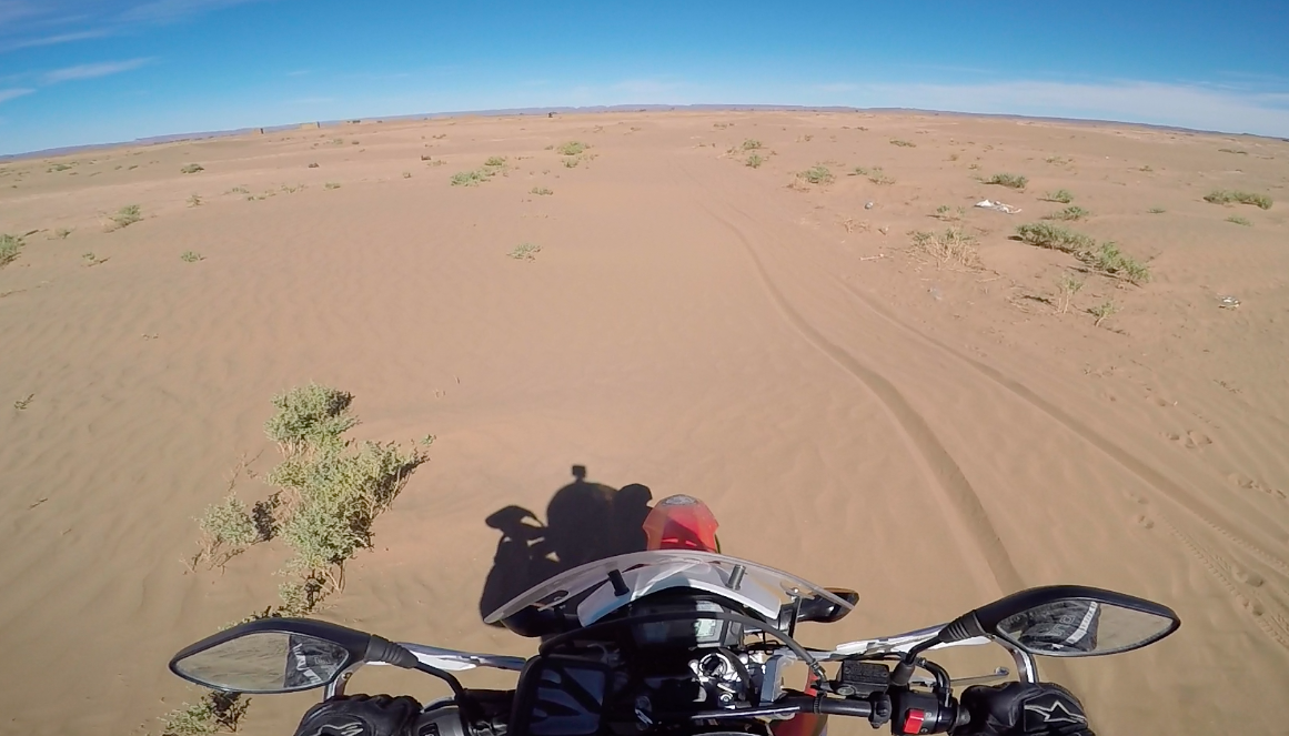 Sahara desert, ride motorcycle