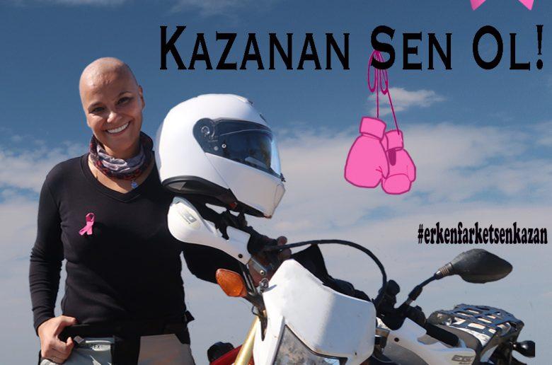 motosiklet kanser farkındalık